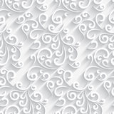 White paper swirls pattern Royalty Free Stock Photos