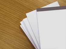 White paper on table Royalty Free Stock Photos