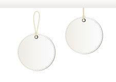 White paper tags. Empty white round paper tags on white background. Vector vector illustration