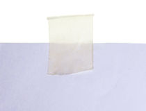 White paper and tape. On white background Stock Photo