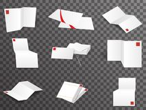 White paper template set different points of view mock up design vector illustration vector illustration