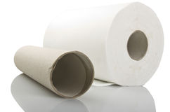 White paper towel roll Royalty Free Stock Photography