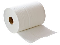 White paper towel roll Royalty Free Stock Image