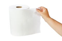 White paper towel roll Royalty Free Stock Photo