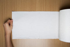 White paper towel roll Royalty Free Stock Images