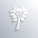 White paper tree background, vector eps10 Stock Photo