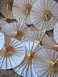 White paper umbrella Royalty Free Stock Photo