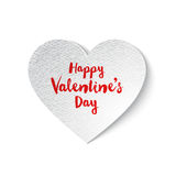 White paper Valentines heart Stock Photo
