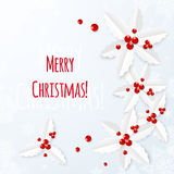 White paper vector Christmas greeting card Royalty Free Stock Photos