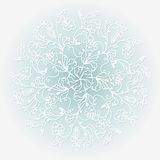 White paper vector snowflake Stock Photography