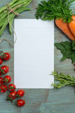 White paper and vegetables Stock Photo