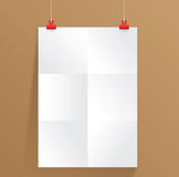 White paper on wall. Vector for any work Stock Photography