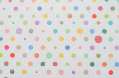 Free White Paper With Colorful Dot Pattern Stock Photography - 94990392