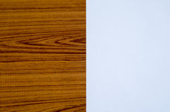 White paper on wood Royalty Free Stock Photos