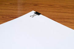 White paper on wood Stock Images