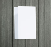 White Paper On Wood Table Of Background. White Paper On Wood Table Of The Background royalty free stock photos