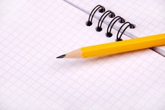 White paper and pencil Royalty Free Stock Image