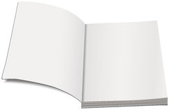 White paperback template. Open book paperback Royalty Free Stock Photos