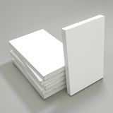 White Papers on a gray background. 3d rendering Stock Photography