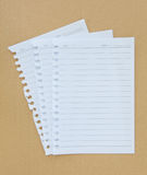 White papers sheet Stock Photo