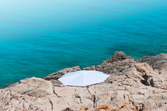 White Parasol Beach Royalty Free Stock Image