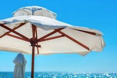 White parasol Royalty Free Stock Photo