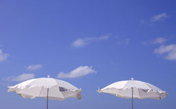 White Parasols Royalty Free Stock Photos
