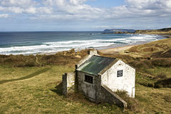 White park Bay Antrim. Superb White park Bay Northern Ireland royalty free stock image
