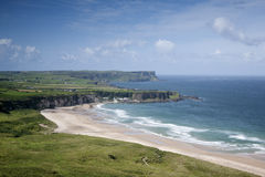 White Park Bay, County Antrim. Northern Ireland royalty free stock photo