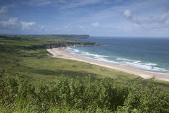 White Park Bay, County Antrim. Northern Ireland royalty free stock image