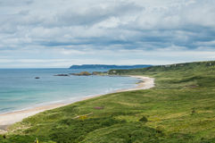 White Park Bay, County Antrim. Northern Ireland. One of the best beaches of the United Kingdom stock image