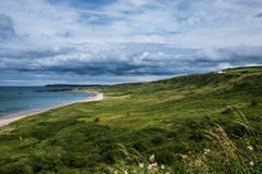 White Park Bay, County Antrim. Northern Ireland. One of the best beaches of the United Kingdom stock images
