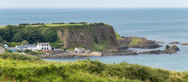 White Park Bay, County Antrim. Northern Ireland. One of the best beaches of the United Kingdom stock photo