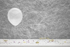 White party balloon, Stock Photo