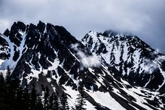 White pass mountains in british columbia Royalty Free Stock Image