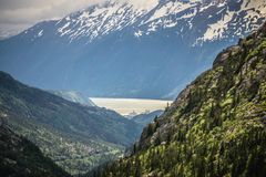 White pass mountains in british columbia Royalty Free Stock Images
