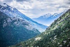 White pass mountains in british columbia Royalty Free Stock Photos