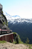 White Pass Route. Steam train in the White Pass Route Royalty Free Stock Photos