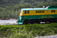 White pass train Royalty Free Stock Photography