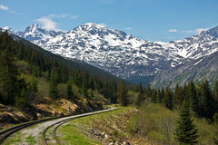 White Pass and Yukon Route Railroad Stock Images