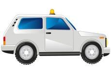 White passenger car Stock Photo