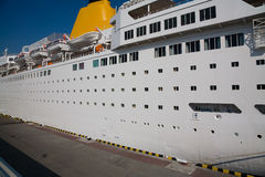 White passenger cruise ship Stock Images
