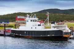 White passenger ferry in Norway Stock Photo