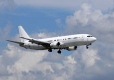 White passenger jet airplane Royalty Free Stock Image