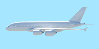 White passenger plane. A side view Stock Photos