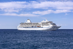 The white passenger ship Stock Images