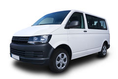 White Passenger Van Royalty Free Stock Photography