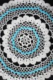 White pattern crochet tablecloth Stock Photos