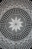 White pattern crochet tablecloth Stock Images