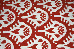 White pattern on red background. Modern pattern design as wallpaper or background Stock Illustration